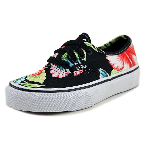 a9535bf8666c08 Shop Vans Authentic Boy Hawaiian Floral Black Athletic Shoes - Free ...