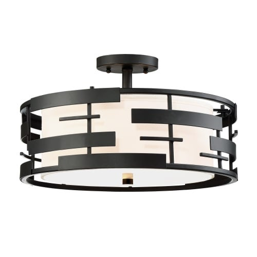 Nuvo lighting 606436 lansing 3 light 16 wide semi flush drum nuvo lighting 606436 lansing 3 light 16 wide semi flush drum ceiling fixture w free shipping today overstock 26212424 aloadofball Choice Image