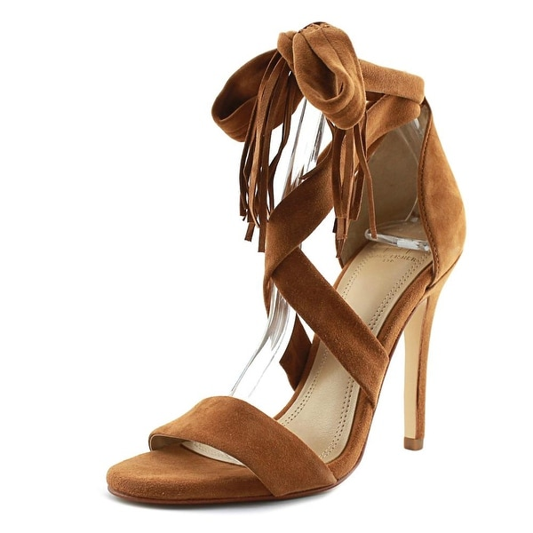 74453dbaace Shop Marc Fisher Lauren Women Open-Toe Leather Brown Heels - Free ...
