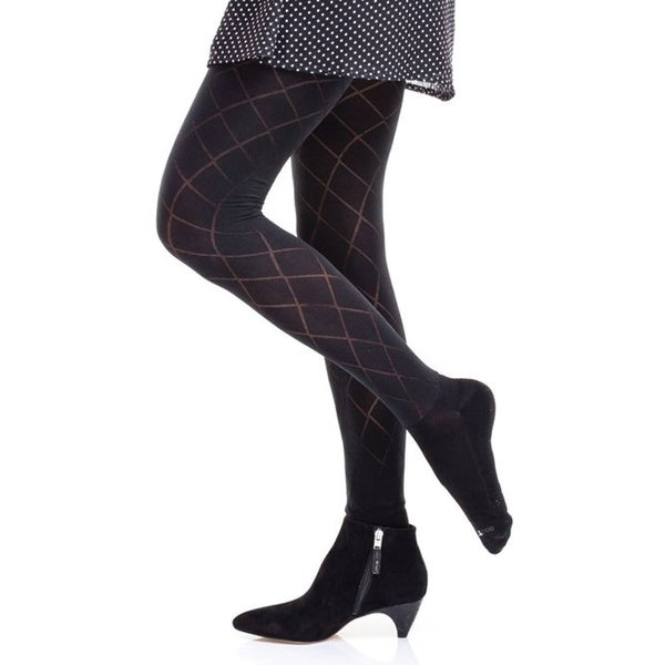 Shop Women's Boot Foot Patterned Tights Control Top Free Inspiration Women's Patterned Tights