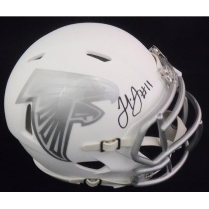 c4ac7796 Julio Jones Autographed Atlanta Falcons Ice Mini Helmet JSA
