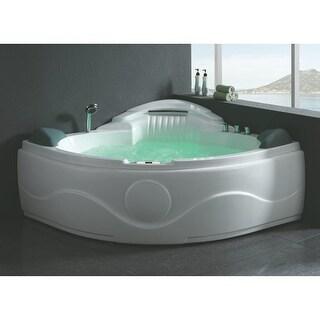"Eago AM505ETL 60-5/8"" Soaking Bathtub for Corner Installations with Center Drain"