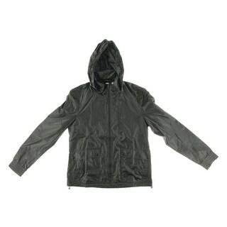 Soia & Kyo Mens Nolan Raincoat Hooded Water Resistant - L
