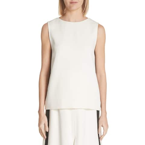 Burberry Off White Womens Size 8 Derora Sleeveless V-Back Top