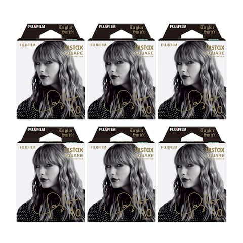 Fujifilm Instax Square Film Taylor Swift Edition (6 Pack) - 86mm x 72mm