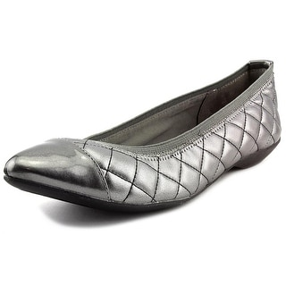 Anne Klein Sport Offered Pointed Toe Synthetic Flats