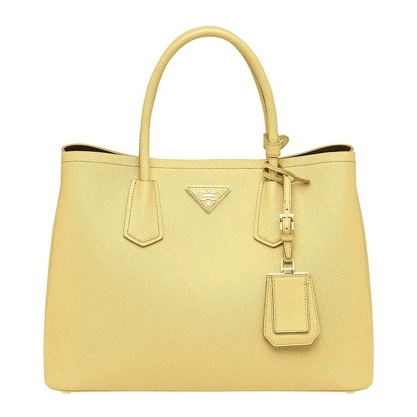 Prada Saffiano Leather Tote Handbag Polline