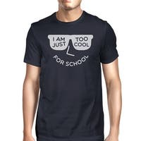 Too Cool For School Mens Navy Round Neck Tee Shirt For College