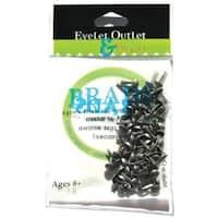 Eyelet Outlet  Eyelet Outlet Round Brads 4mm 70/Pkg-Brushed Silver