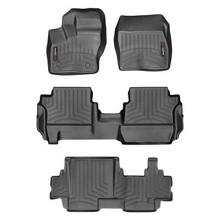 WeatherTech 44599-1-2-3 Black FloorLiner - All Rows: Ford Transit Connect 2014 +