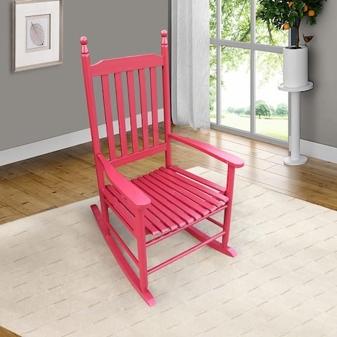 Nestfair Wooden Porch Rocker Chair