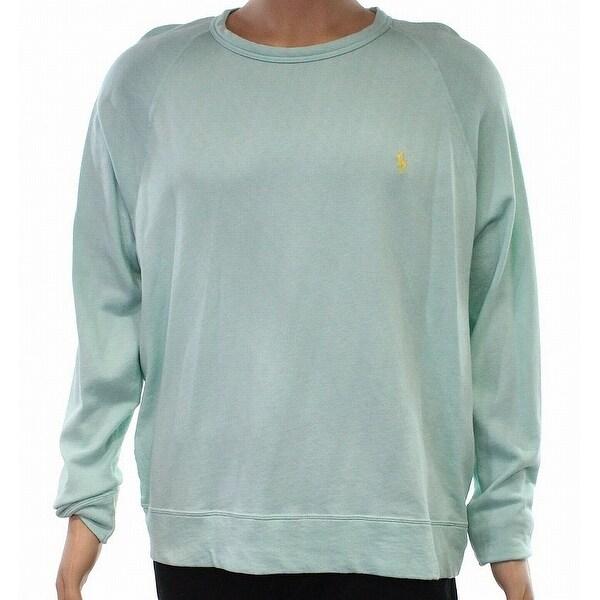 Sweater Ralph Crewneck Mens Green Terry Mint Xs Size Lauren Polo New TJul3cKF1