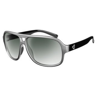 Ryders Eyewear Pint Silver/Black R579-007 Green Gradient Lens Sunglasses