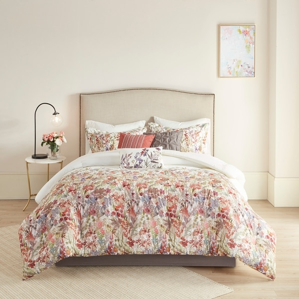 Madison Park Fiona 7 Piece Cotton Printed Comforter Set. Opens flyout.