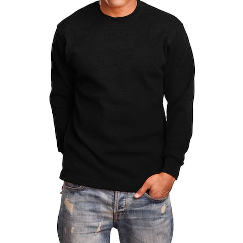 NE PEOPLE Mens Basic Lightweight Long Sleeve Crewneck Regular Fit Thermal Shirts Tops S-5XL