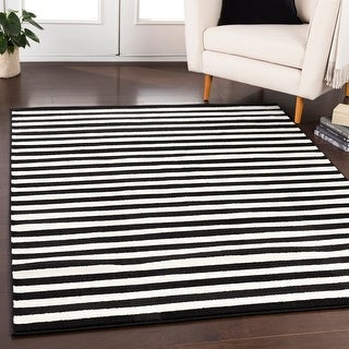 Link to Haguenau Casual Striped Area Rug (5'3 x 7'3) Similar Items in Casual Rugs