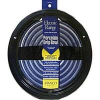 """Stanco 414-8 Electric Range Drip Pan 8"""", Black Porcelain"""