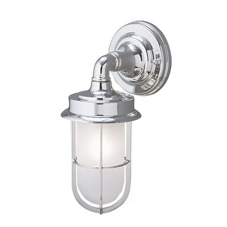 "Norwell Lighting 1425 Compton 1-Light 12"" Tall Outdoor Wall Sconce with White Glass Shade - N/A"