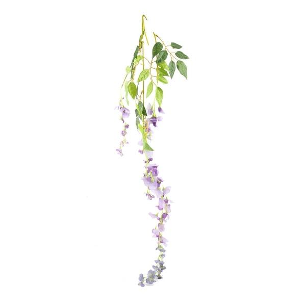 Garden Plastic Wall Hanging Decoration Artificial Emulational Flower Vine Purple