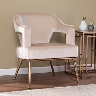 Link to Silver Orchid Ellisten Contemporary Beige Fabric Accent Chair Similar Items in Living Room Chairs