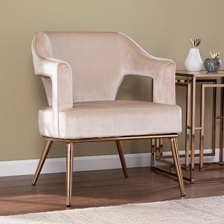 Link to Silver Orchid Ellisten Contemporary Beige Fabric Accent Chair Similar Items in Accent Chairs