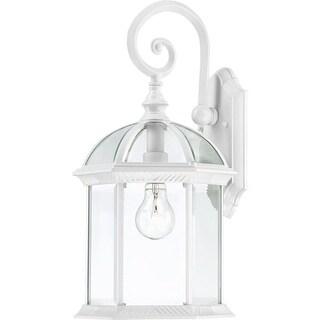 Nuvo Lighting 60/4964 Boxwood Single-Light Wall Lantern with Clear Beveled Glass Panels