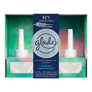 Glade 77238 Atmosphere Collection PlugIns Air Freshener Oil Refill, Jasmine & Cedarwood, 1.5 Oz