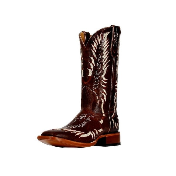 Cinch Western Boots Womens Embroidered Leather Brown Crème