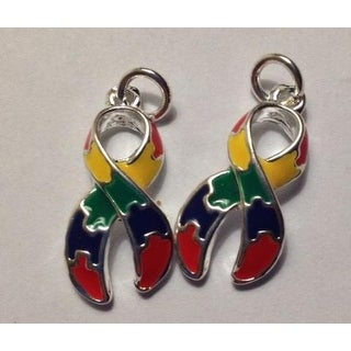 2 Puzzle Charms for Autism Awareness
