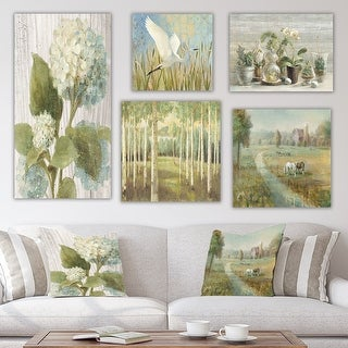 Designart 'Countryside Collection' Traditional Wall Art set of 5 pieces - Multi-Color