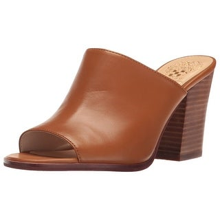 Vince Camuto Womens Anabi Leather Open Toe Mules