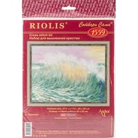 "Wave Counted Cross Stitch Kit-15.75""X11.75"" 14 Count"