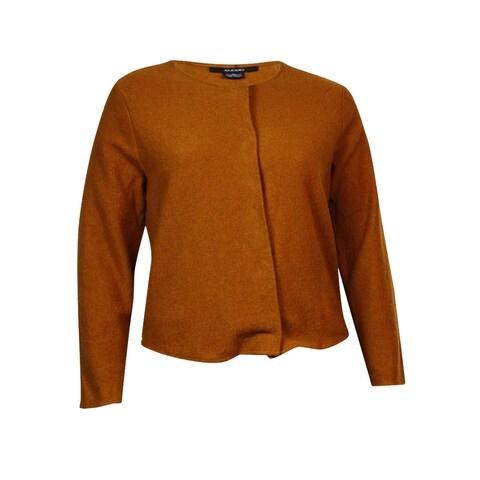 Alfani Women's Wool Snap Button Down Jacket Sweater