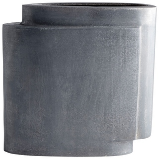 "Cyan Design 08958  A Step Up 11-3/4"" Wide Aluminum Vase - Zinc"