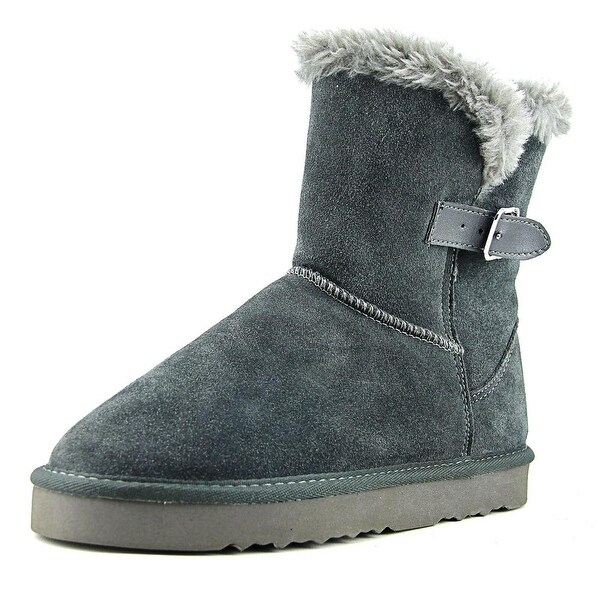 Style & Co Witty Women Round Toe Suede Black Snow Boot