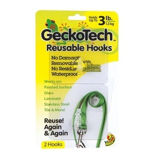 GeckoTech 282313 Reusable Hook with Microsuction Technology