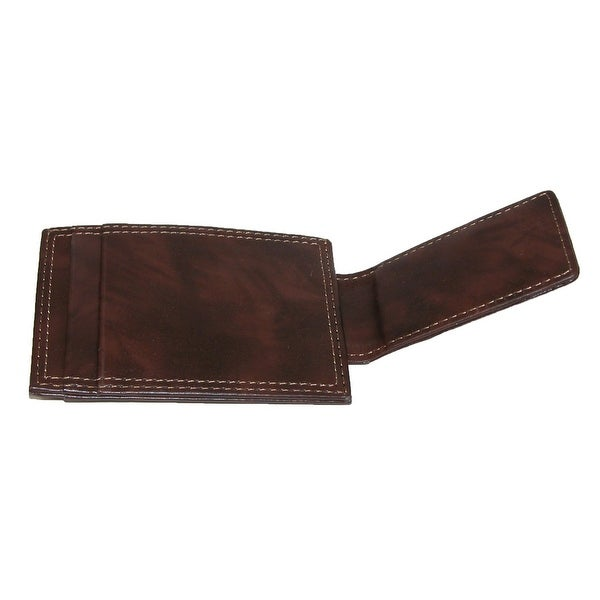 New Dockers Men/'s Leather Front Pocket Card Case Wallet with Magnetic Money Clip