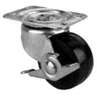 Mintcraft JC-H12 4 in. Rubber Plate Caster With Brake