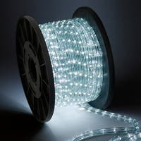 Arksen 100' LED Rope Light, Decorative In/outdoor Xmas Holiday (Cool White)