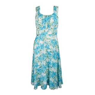 Connected Apparel Women's  Sleeveless Floral-Print Empire-Waist Dress - 6