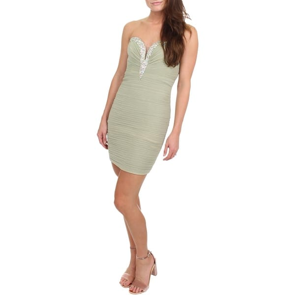 4a0e139d1796 Shop JVN by Jovani Womens Semi-Formal Dress Embellished Strapless ...