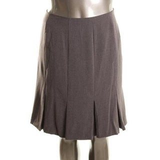 AGB Womens Petites Pleated Skirt Lined Flare - 16p