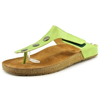 Haflinger Lisa Open Toe Leather Thong Sandal