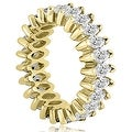 4.50 cttw. 14K Yellow Gold Marquise Diamond Eternity Ring - Thumbnail 2