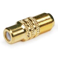 Monoprice Gold Plated RCA Female to F-Type Female Adaptor