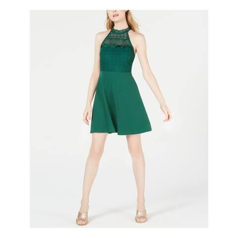 19 COOPER Green Sleeveless Mini Dress L