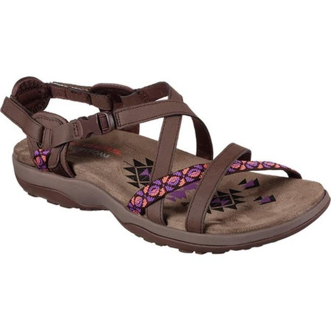 e96906caaccf Shop Skechers Women s Reggae Slim Vacay Sandal Chocolate - On Sale - Free  Shipping On Orders Over  45 - Overstock - 14392293