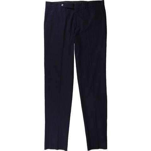 Eidos Napoli Mens Japan Seersu Casual Trouser Pants, Blue, 52W x 36L - 52W x 36L