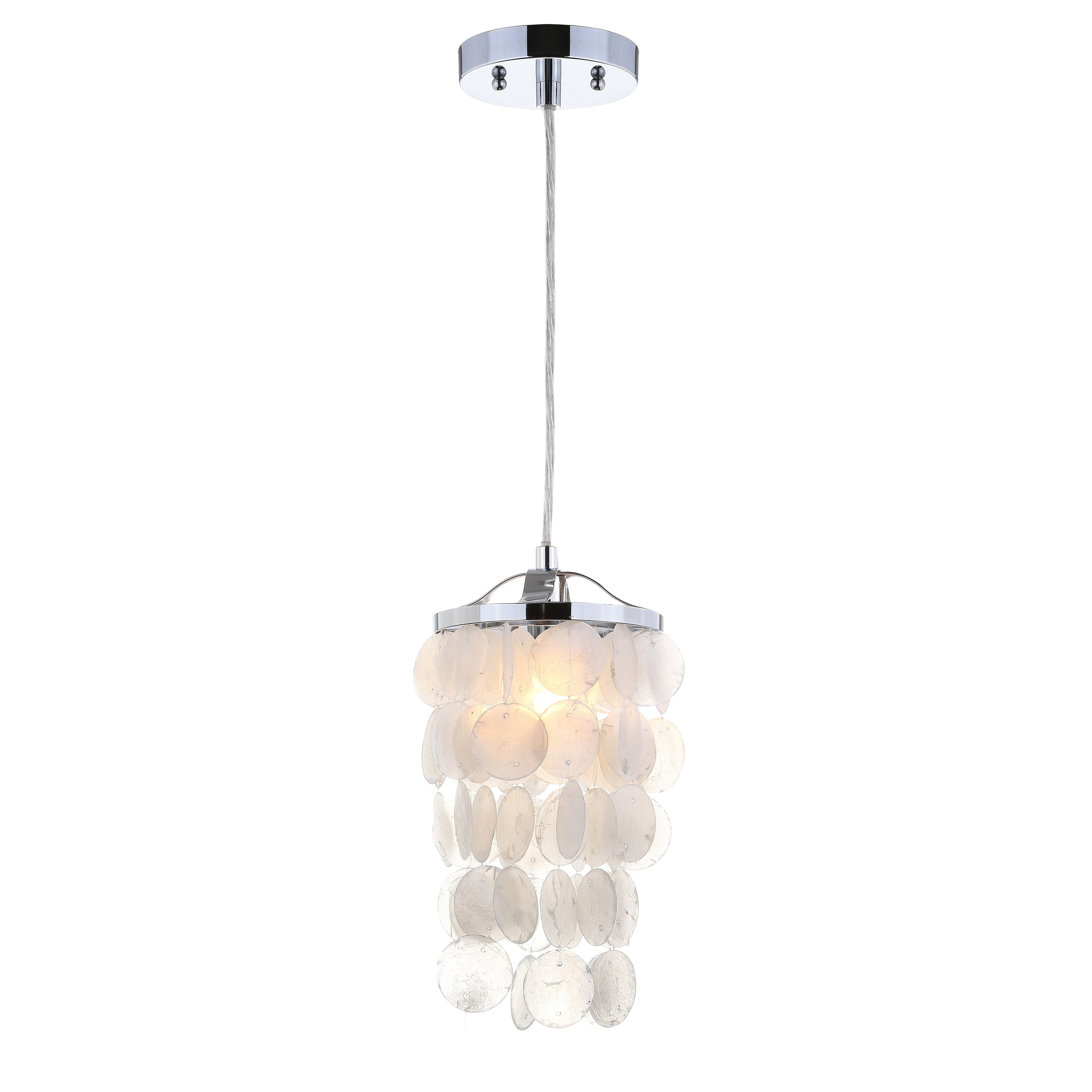 Shop Black Friday Deals On Cayla 7 Seashell Led Chandelier Pendant White Chrome By Jonathan Y Overstock 20711792