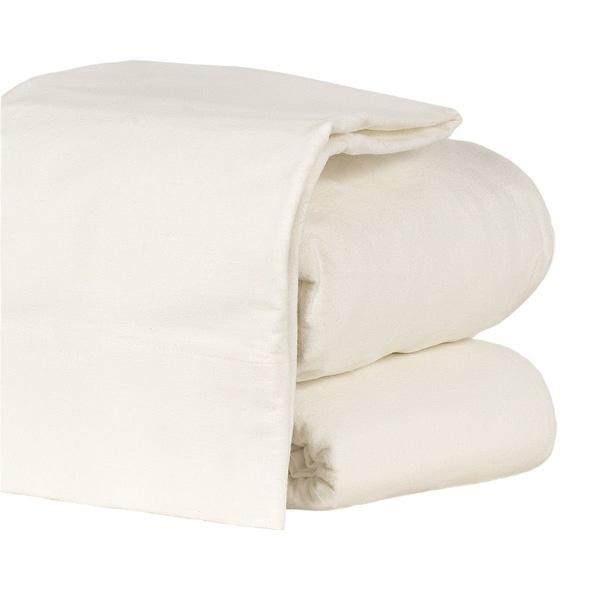 Flannel Sheet Set Heavyweight 190GSM Ultra Soft 4 Pcs White Full Size